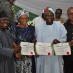 Hon. Solomon Adeola, Senator Oluremi Tinubu, Gov-elect Akinwunmi Ambode and Senator Gbenga Ashafa